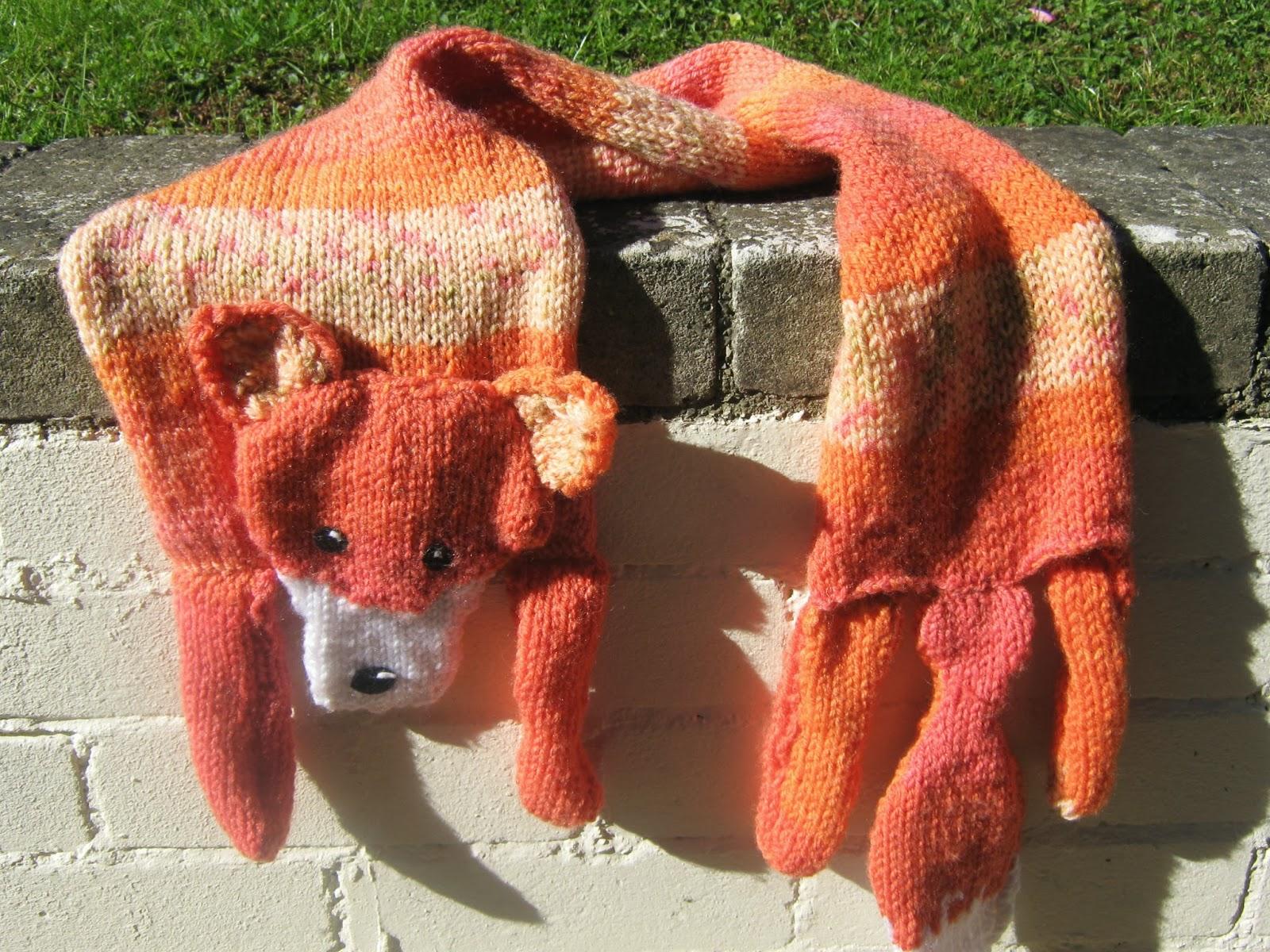 Free Knitting Pattern Fox Scarf Awake Make A Blog For