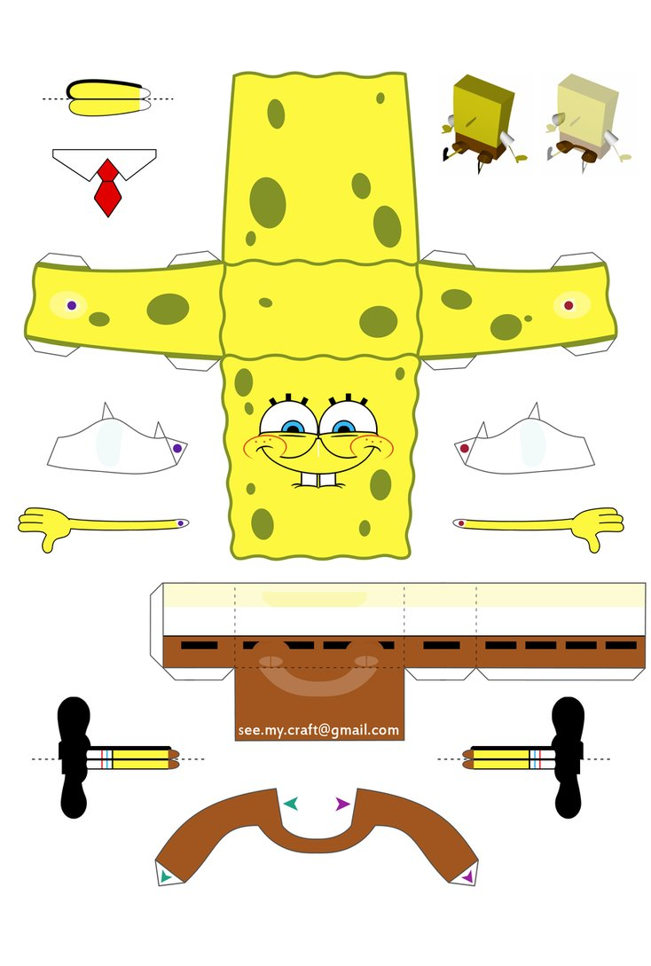 Spongebob Again?? But Still Papercraft of Spongebob
