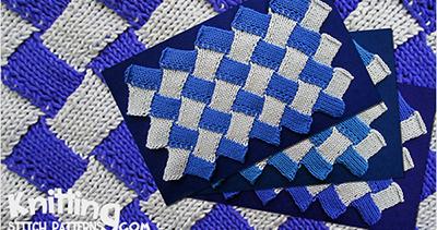 Zig Zag Entrelac | Knitting Stitch Patterns