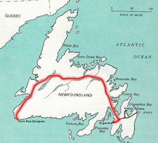 Crossing Newfoundland By ATV - Newfoundland map