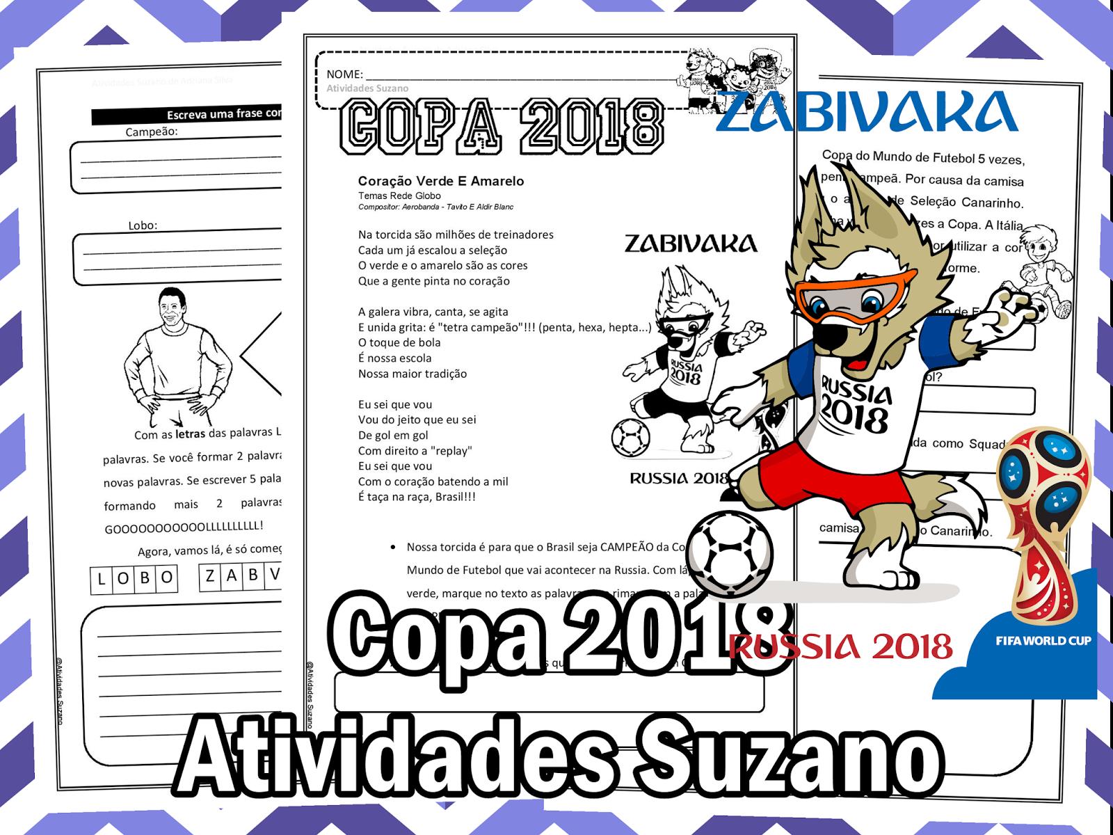 Atividades Pedagogica Suzano Copa 2018 3º Ano Coração Verde E