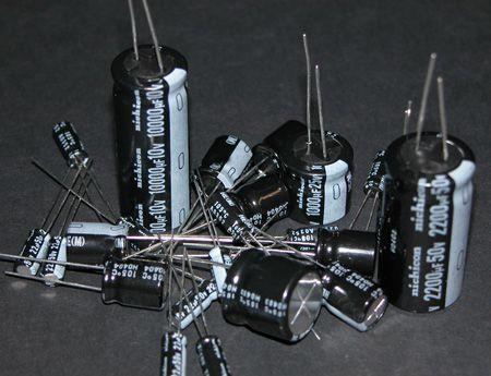 gambar kapasitor kondensator elco electrolit