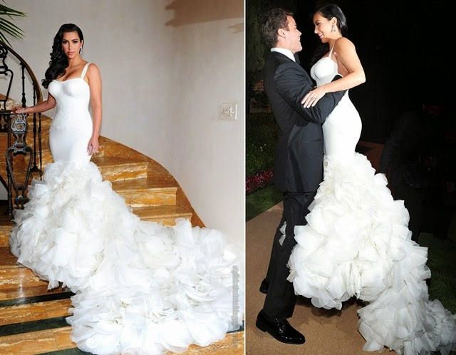 Beautiful Bride Kim Kardashian