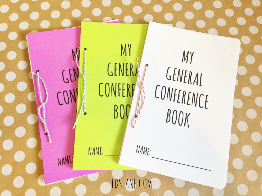 Free Printable LDS General Conference Book - ldslane.com #lds #mormon