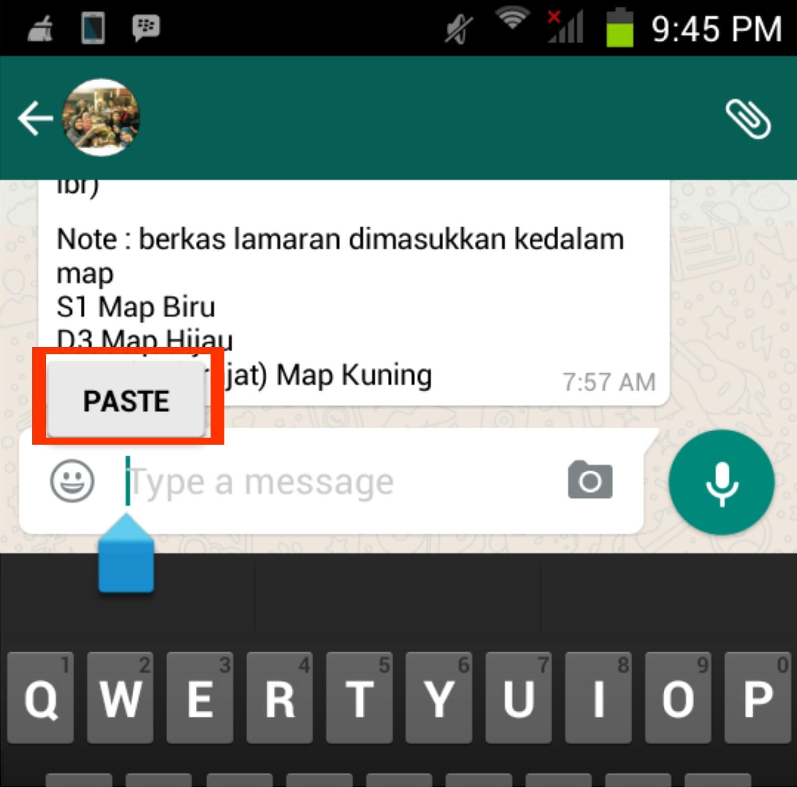 Cara Melakukan Copy-Paste pada Aplikasi WhatsApp di Android /iOS ...