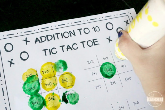 fun math game for kindergarten, first grade, second grade to practice addition