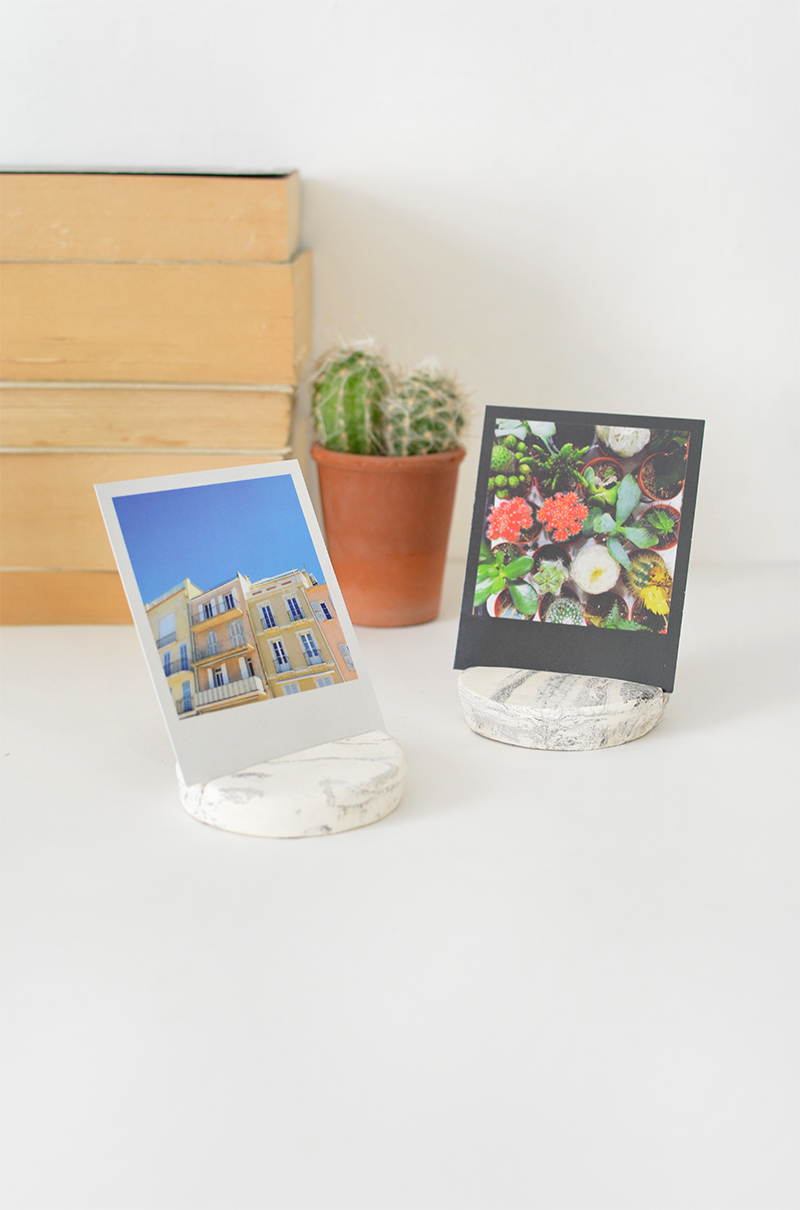 DIY clay photo display