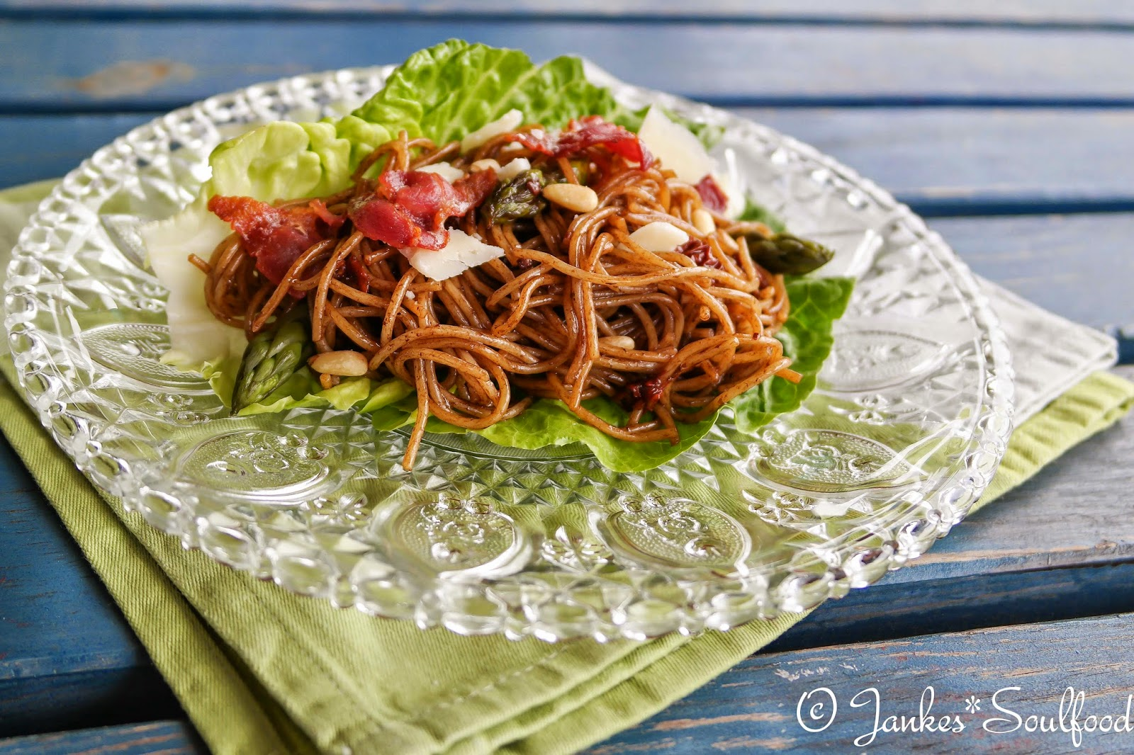 Spaghetti-Salat mit Spargel - Jankes*Soulfood