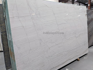 Calacatta White Macaubas Quartzite Slabs for Countertops NYC