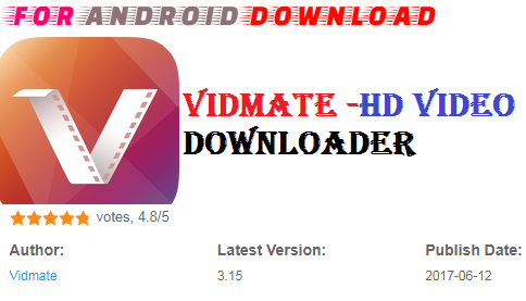 FOR ANDROID DOWNLOAD: Download Free New Update Vidmate -HD