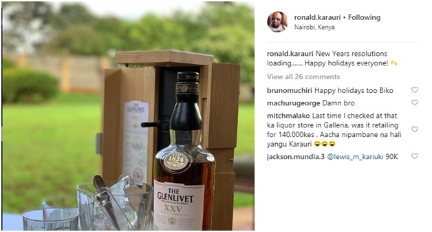 2 - Sportspesa CEO, RONALD KARAURI, gulps a mzinga worth Ksh 140,000 as you continue wasting your money on betting (PHOTO)