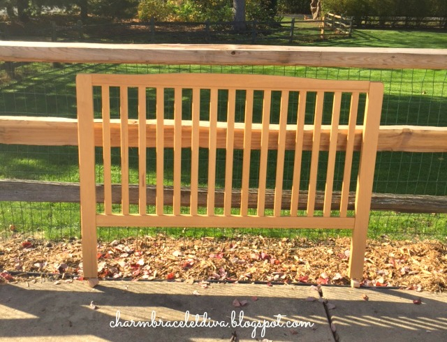 crib side slats full sized bed headboard paint project