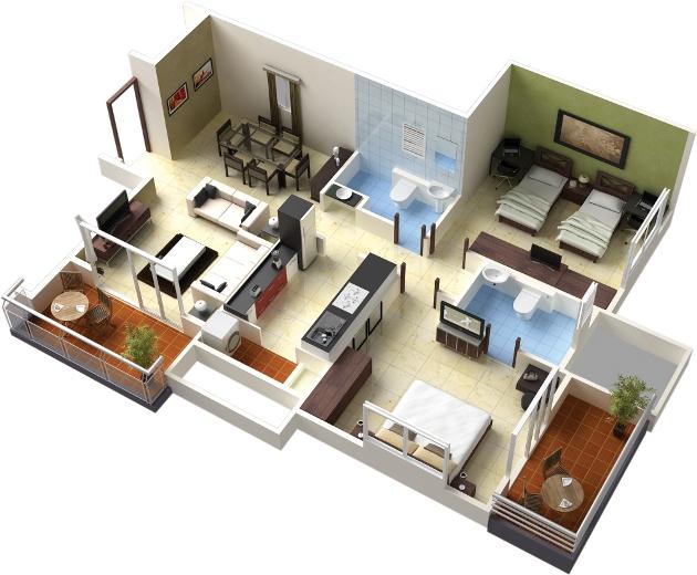 Desain Rumah idaman dan minimalis dalam bentuk 3D, Inspirasi Rumah Impian di masa depan