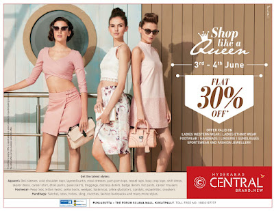 Central - Flat 30% off | June 2017 discount offers