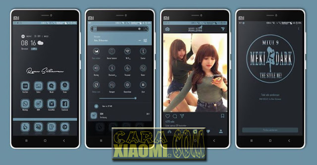 Download MIUI Theme Meki Dark