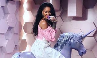 Rihanna Fenty Beauty Unicorn Party Photo