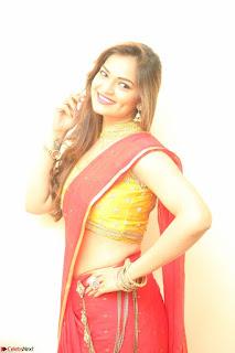 Actress Ashwini in Golden choli Red saree Spicy Pics ~  070.JPG