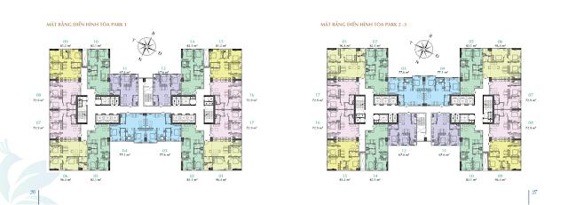 Thiết kế tòa Park 1-2-3 chung cư EuroWindow Đông Anh