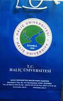 haliç üniversitesi logo ve karton çanta örneği