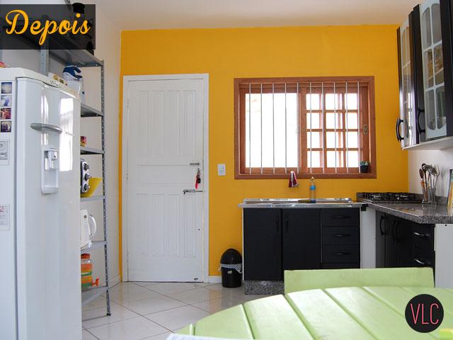 Depois de pintar a parede amarela