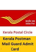 Kerala Postman Mail Guard Admit Card