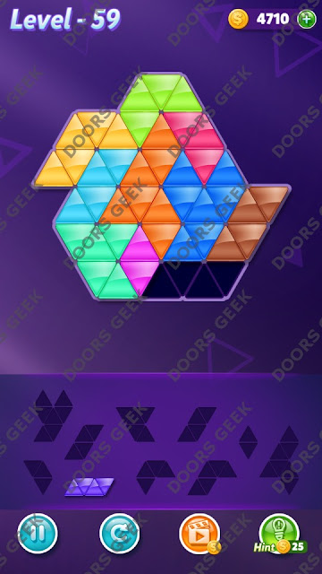 Block! Triangle Puzzle Master Level 59 Solution, Cheats, Walkthrough for Android, iPhone, iPad and iPod
