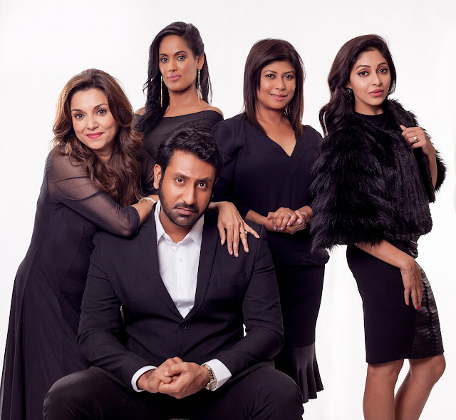 Back: Lillette Dubey, Leeanda Reddy, Jailoshini Naidoo, Kajal Bagwandeen Front: Rahul Brijnath