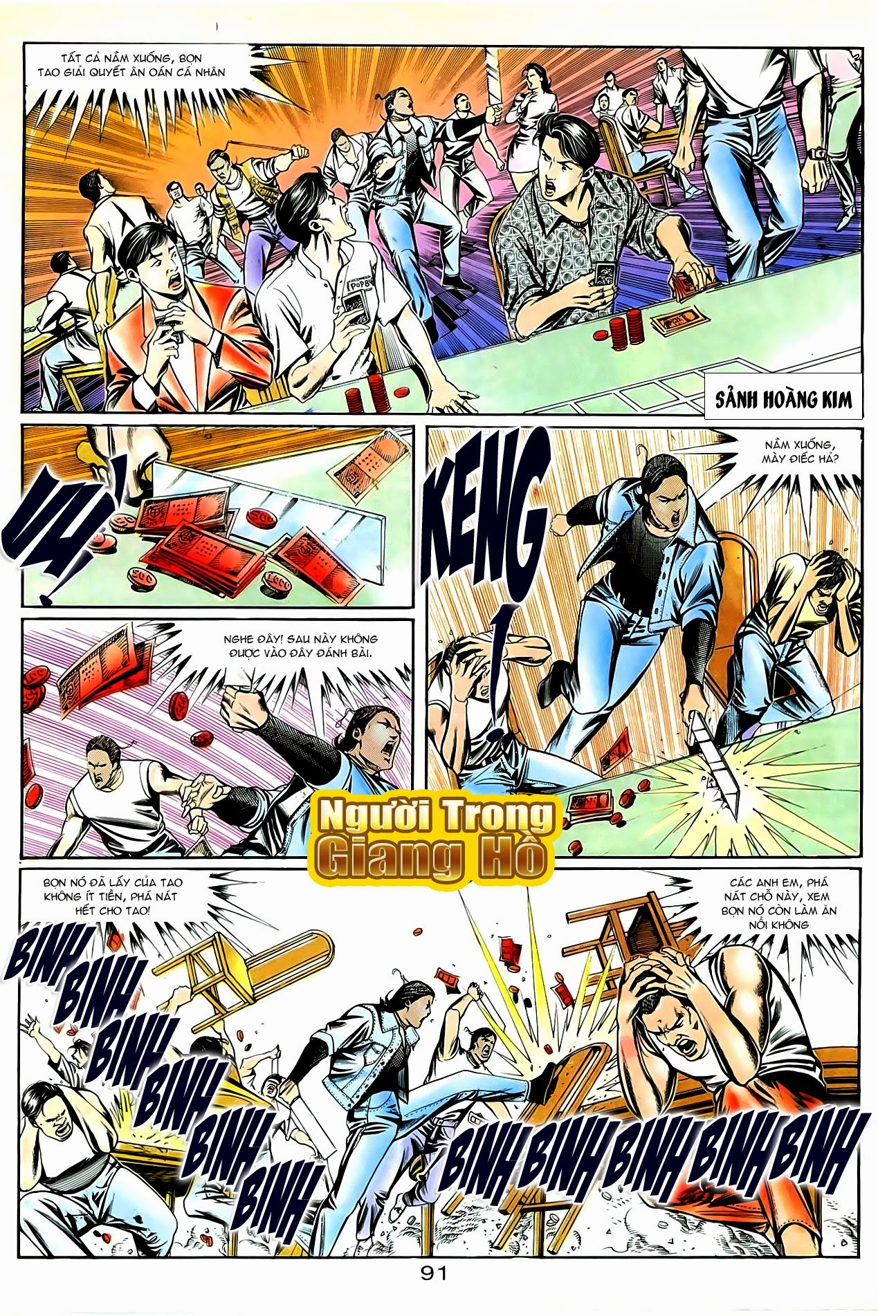 Người Trong Giang Hồ chapter 87: chống lưng của a khôn trang 5