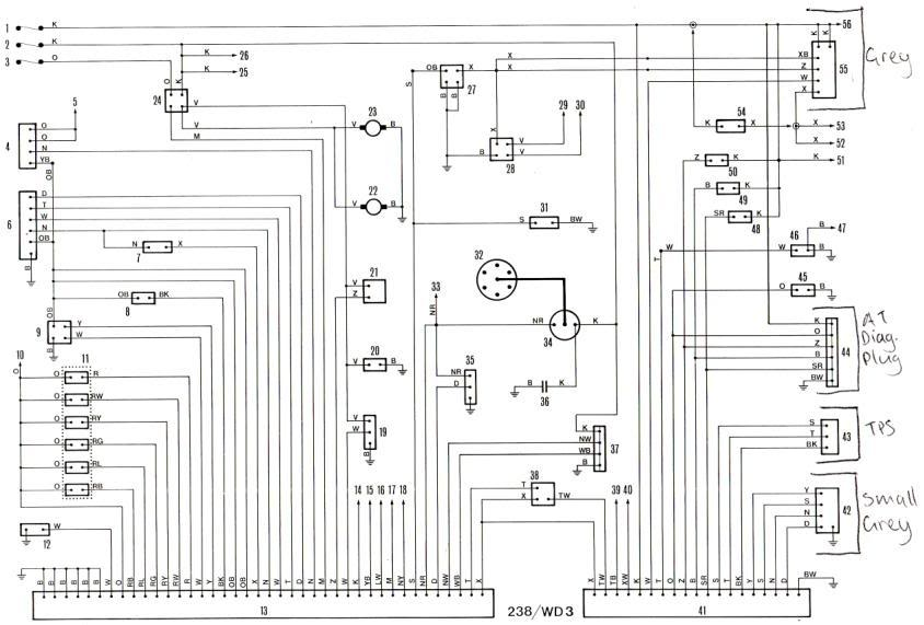 RB30 wiring diagrams | 280zx project