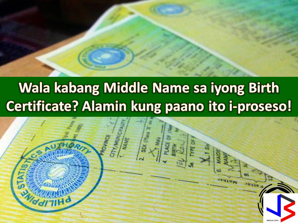 Our middle name is equally important as with our given name and surname. It is a part of our identity and so much needed when filling-up legal or official documents.   Government and private transactions like banking transactions or applying for an identification card (ID) require us to provide our complete names. But there are times that we are shocked to find out that our middle name is blank or missing on our birth certificate.  So, here's what to do to have a middle name on your birth certificate, thanks to Philippine Statistics Office (PSA).