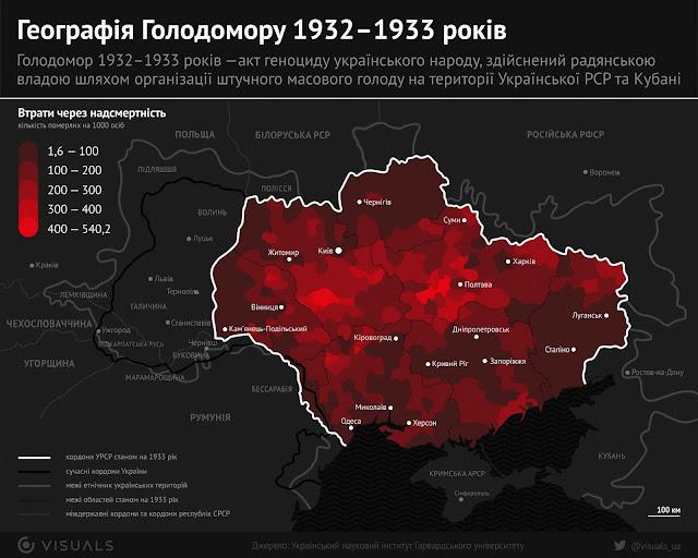 Geografia da grande fome comunista de 1932-1933