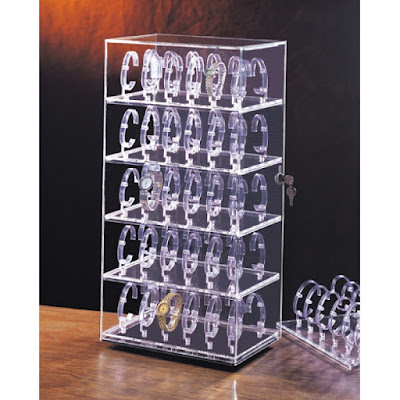 Shop Nile Corp Wholesale Acrylic Rotate Watch Display Cases