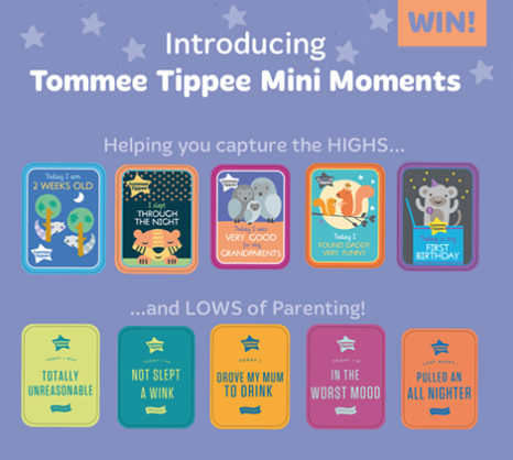 Tommee Tippee mini moment cards