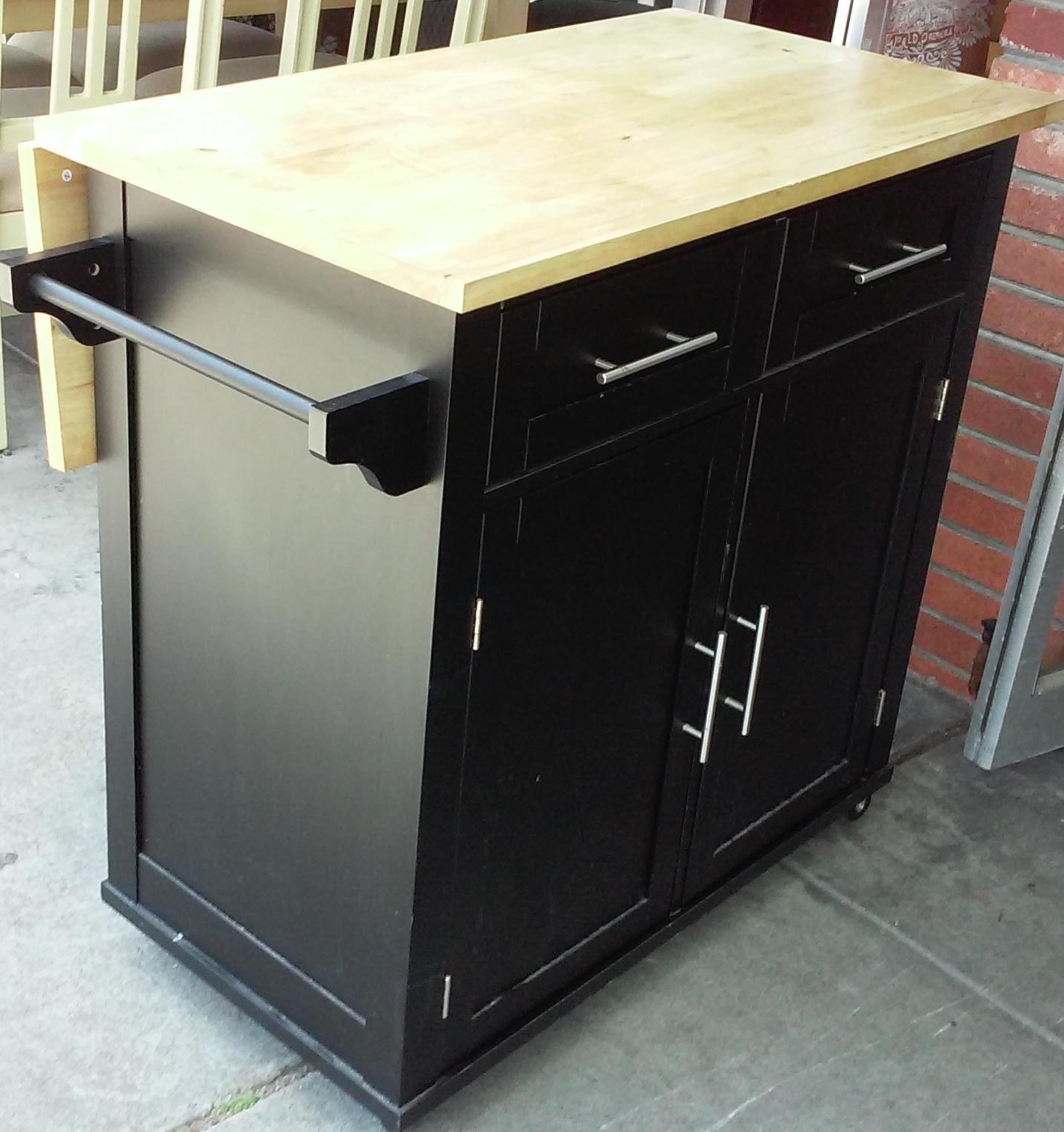 Uhuru Furniture Collectibles Sold Kitchen Island On