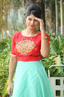 Lucky Shree Looks super cute in Bright Red Green Anarkali Dress ~  Exclusive 049.JPG