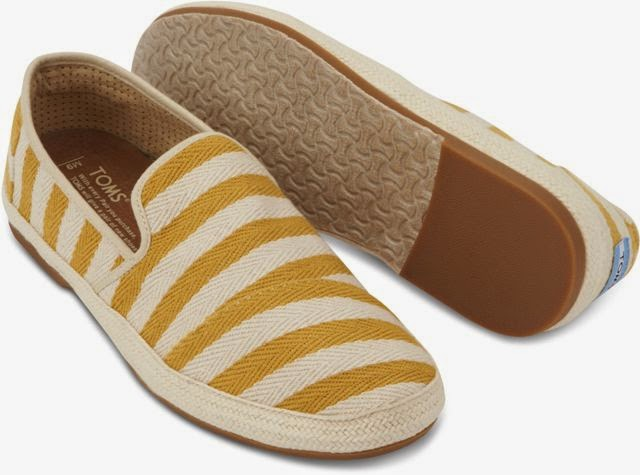 TOMS in Malaysia, toms, one for one, Mixed Woven Burlap Sandal, Baltic Dip-dyed crochet Alpargata Classics, Mustard Safari Stripe Sabados