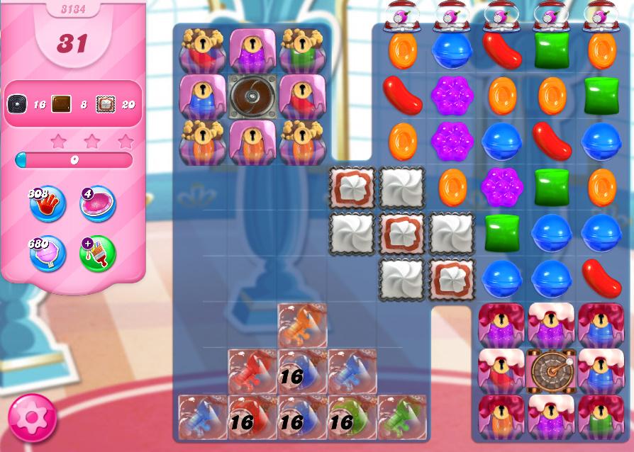Candy Crush Saga level 3134