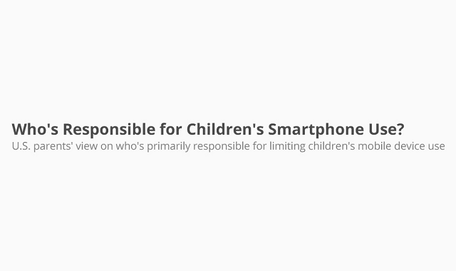 Who's Responsible for Children's Smartphone Use?