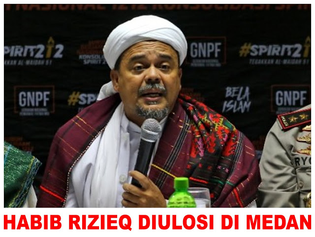 Imam Besar FPI Habib Rizieq Pake Ulos di Medan