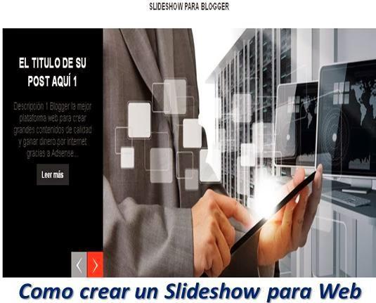 Como crear un Slideshow para Web