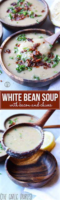 White Bean Soup With Bacon And Chives
