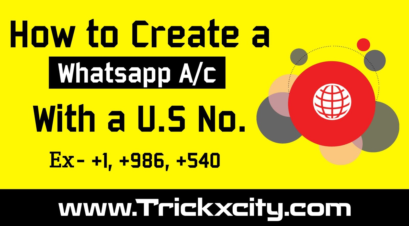 How to Create a Whatsapp Account with U S Number ( New Trick )