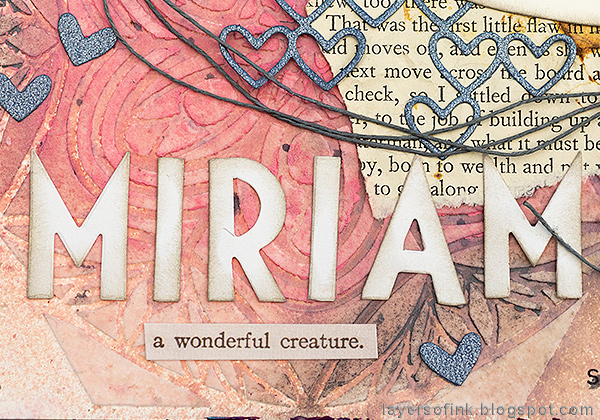 Layers of ink - Vintage Kitten Art Journal Page Tutorial by Anna-Karin Evaldsson title