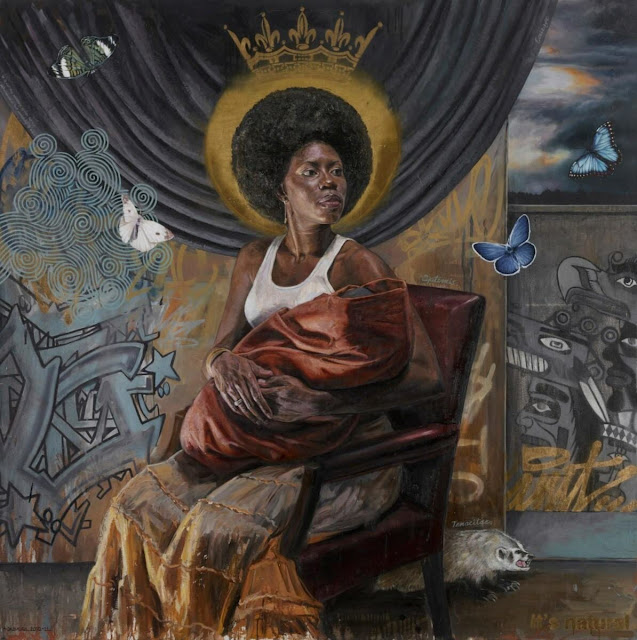 "Artwork of Mary ""Courage 3.0"" by Tim Okamura. From a tweet."