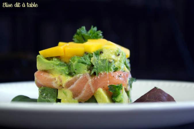 recette avocat et saumon sauce mangue passion