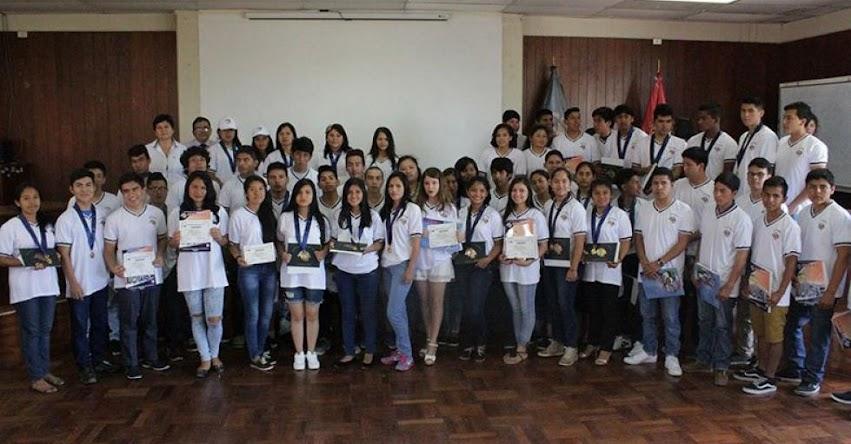 UNT: Premiaron a los primeros lugares del examen de admisión a la Universidad Nacional de Trujillo