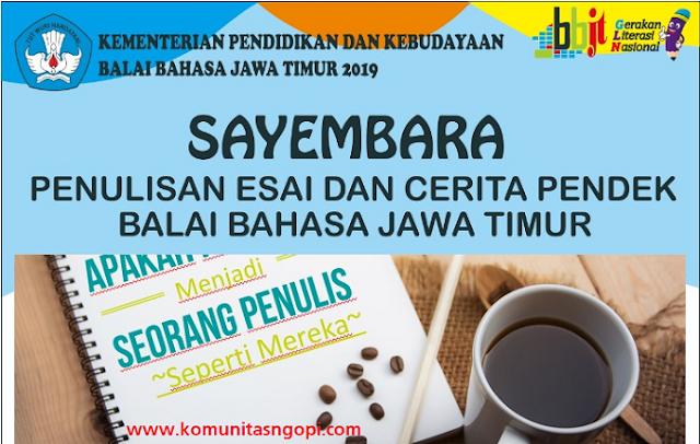 Sayembara Esai dan Cerpen Balai Bahasa Jawa Timur 2019