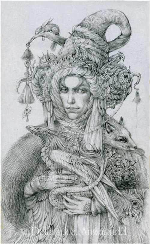 16-Merchant-of-Dreams-Olga-Anwaraidd-Drawings-Fantasy-Portraits-Imaginary-Characters-www-designstack-co