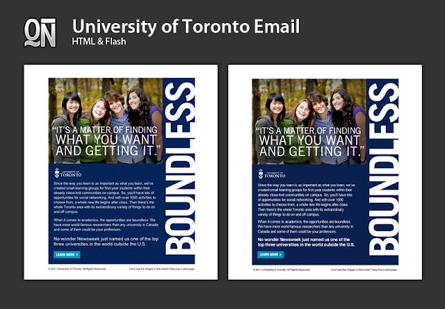 Toronto Web Designer Developer University Of Toronto Email Campaign