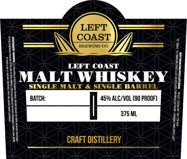 Left Coast Brewing - Left Coast Malt Whiskey Single Malt & Single Barrel